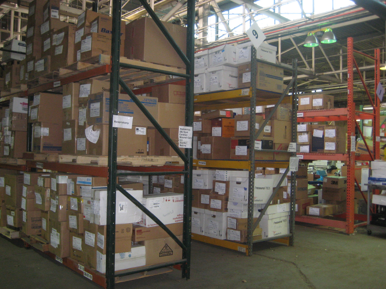 Recovered Supplies at MedWish International warehouse.JPG