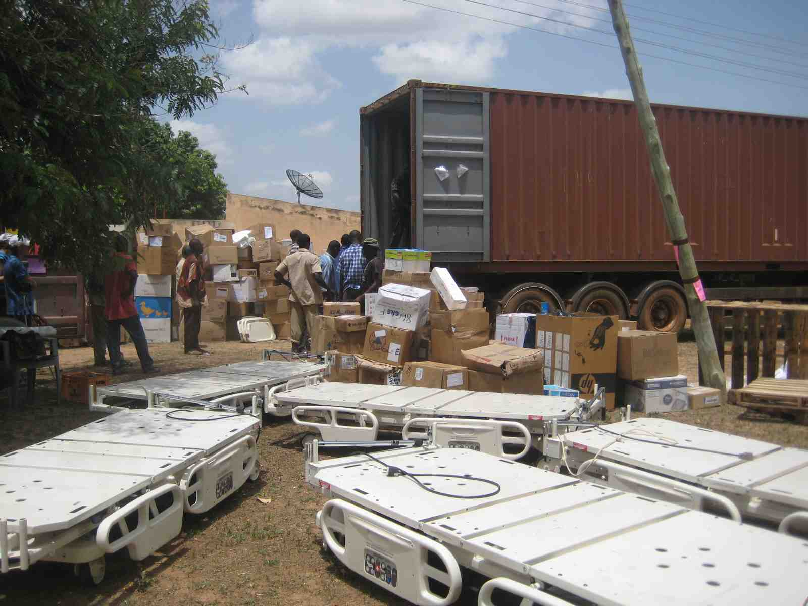 Unloading Shipment - Lawra District Hospital - 2010.jpg