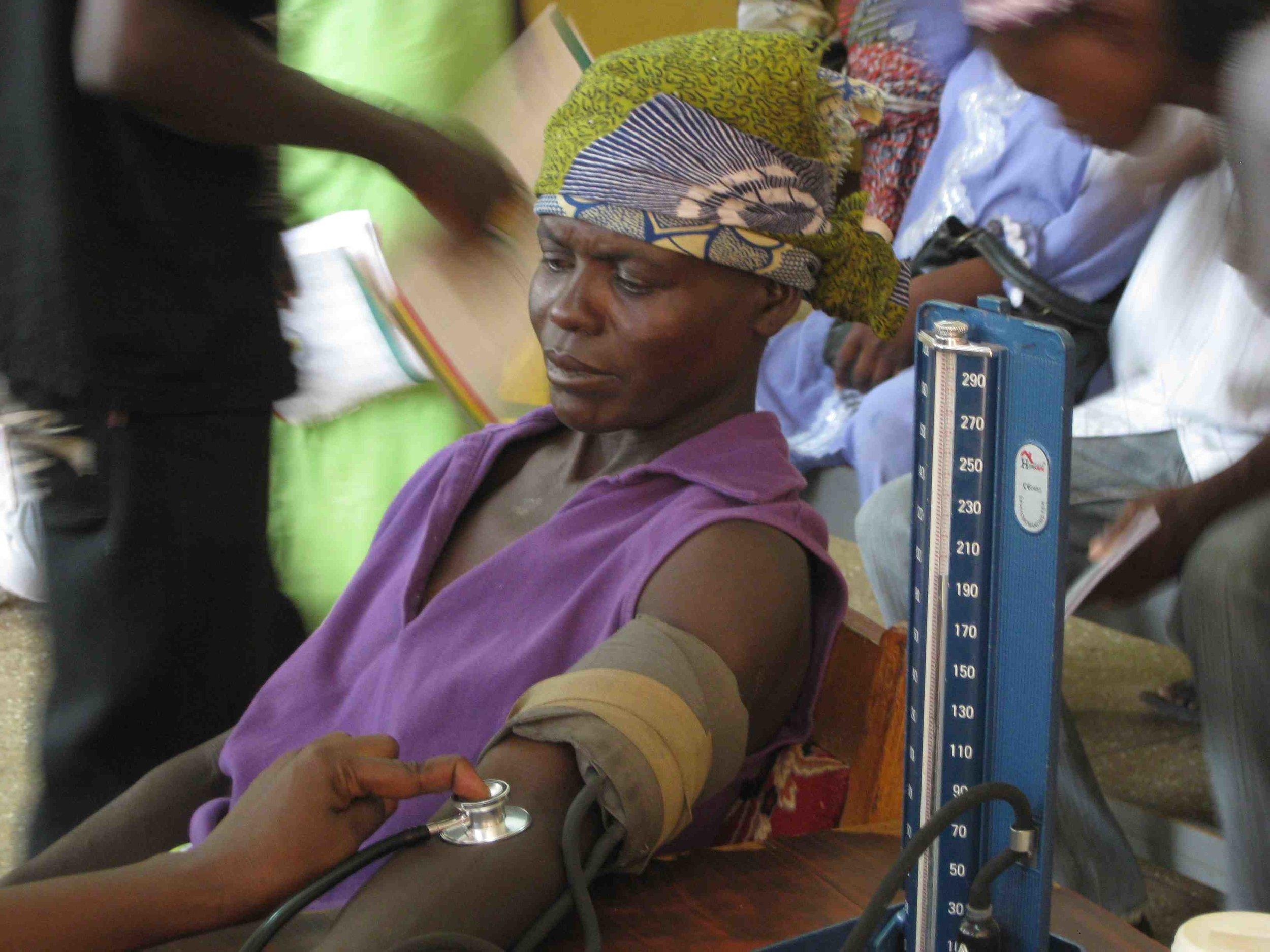 Patient Getting BP Taken - OPD Lawra District Hospital.jpg