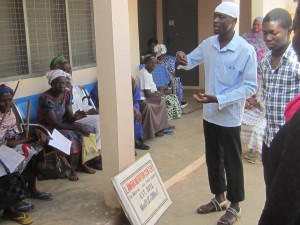 Hospital staff at one of the weekly diabetes and hypertension clinics