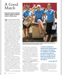 Page 1 of our article in the Carolina Alumni Review