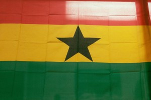 """Throughout the area are signs and symbols, such as this flag of Ghana in a market, that reveal the ethnic identity of the neighborhood. (Adam Krause)""  http://www.smithsonianmag.com/arts-culture/how-tightknit-community-ghanaians-spiced-up-bronx-180951434/#Z1A9ZvrCkeiCCoU1.99"
