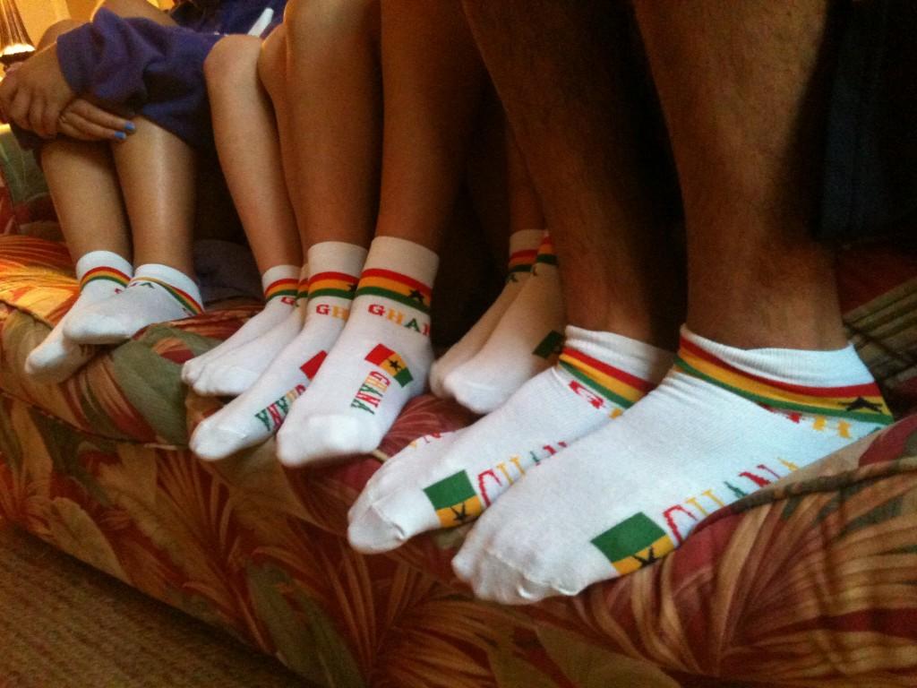 Gabrielle and Rachel's Ghana Flag Socks