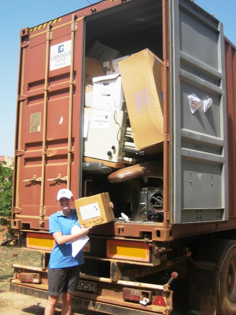 Medical Supplies Arriving in Ghana in 2009
