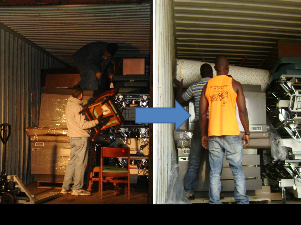 Container Loaded in Cleveland, Arrives In Ghana