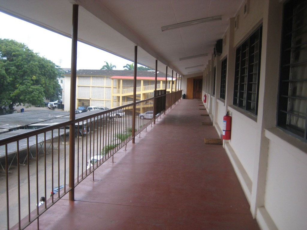 Hallway in the MOH...Tamale Feels VERY far from Accra