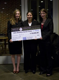 MedPLUS Co-Founders with Check for Winning 2009 Carolina Challenge