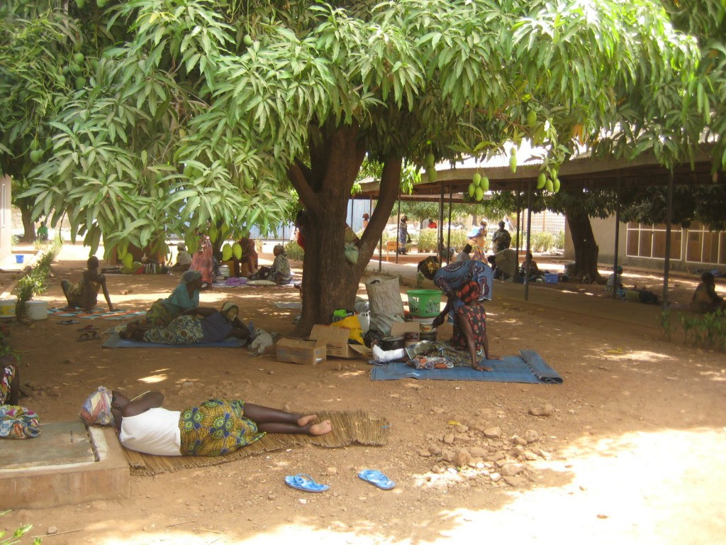 Patients Outside Nandom District Hospital