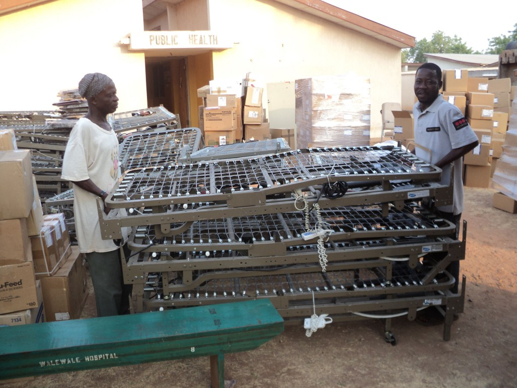 Unloading of Walewale Shipment (Photo Taken by Dr. Abdulai)