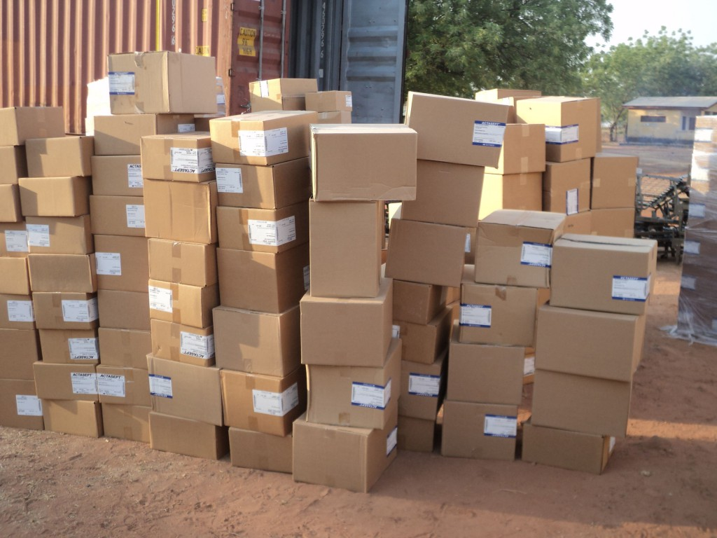 Supplies Unloaded at Walewale (Photo Taken by Dr. Abdulai)