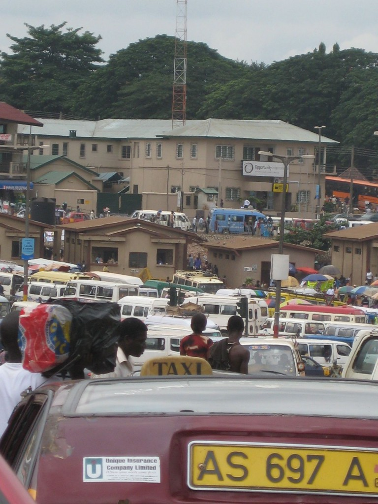 Traffic on Road Through Kumasi (Nope, This is Not a Parking Lot)