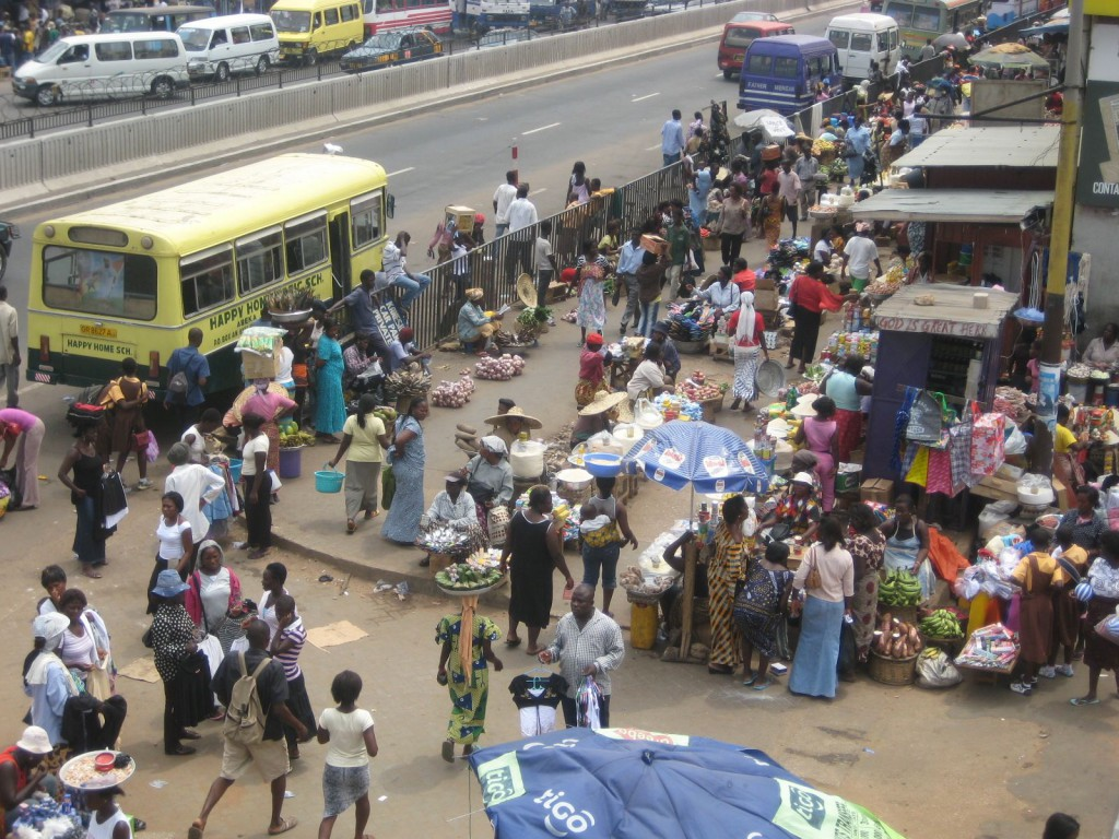 Busy Streets in Accra (This is the location of the Ghana episode on the Amazing Race!!)