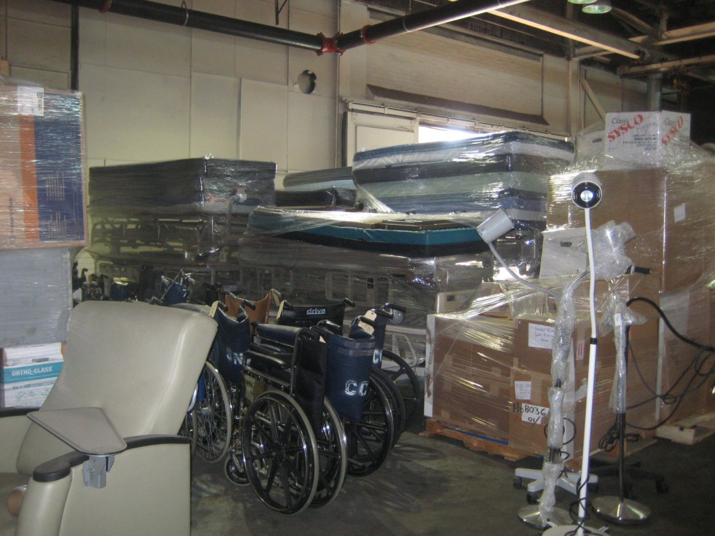 Medical Supplies Near Loading Dock