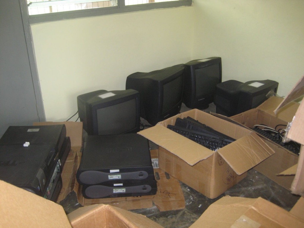 Donated Computers Ready to be Networked