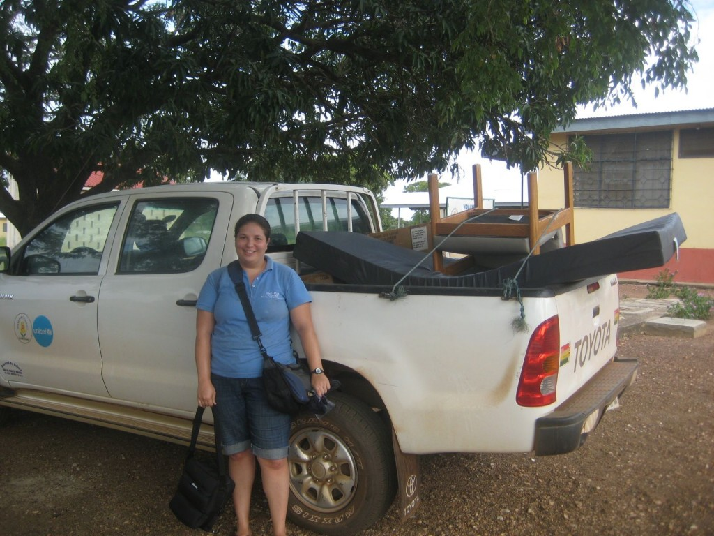Taking a Pick-up Truck of Supplies to a CHPS Compound