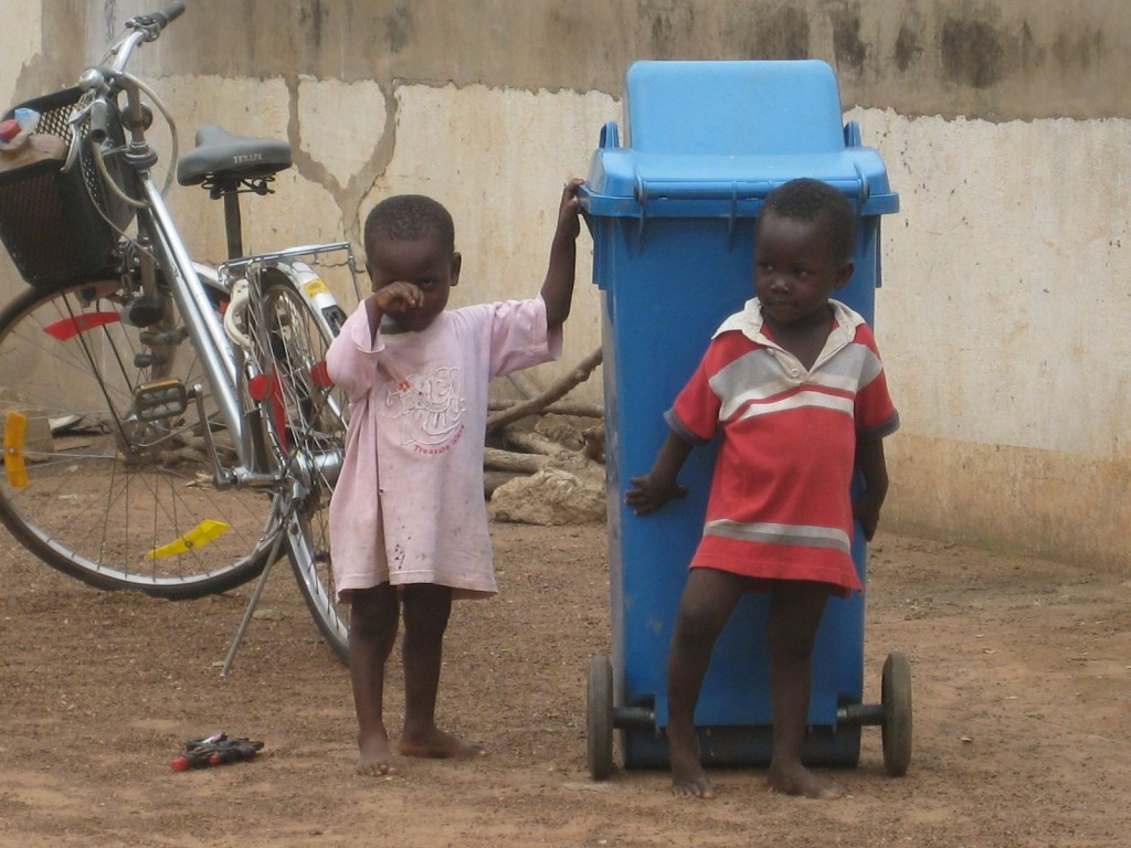 Children Playing Outside the Lawra District Hospital