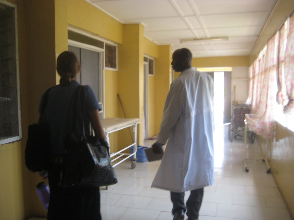 Dr. Abdulai Leading Emily And I Through Walewale District Hospital
