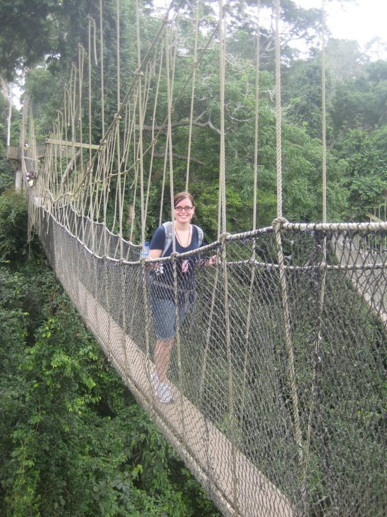 Brooke On The Canopy Tour At Kakum National Park