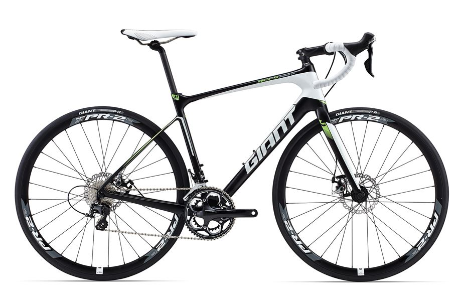 Giant Defy Advanced 2 - Sale Price $1,899.99 (Regular Price $2,125.00)Carbon frame & fork, Shimano 105 2 x 11 speed shifting, mechanical disc brakes, Giant PR-2 disc wheelset.Available Sizes: M/L (~57cm)