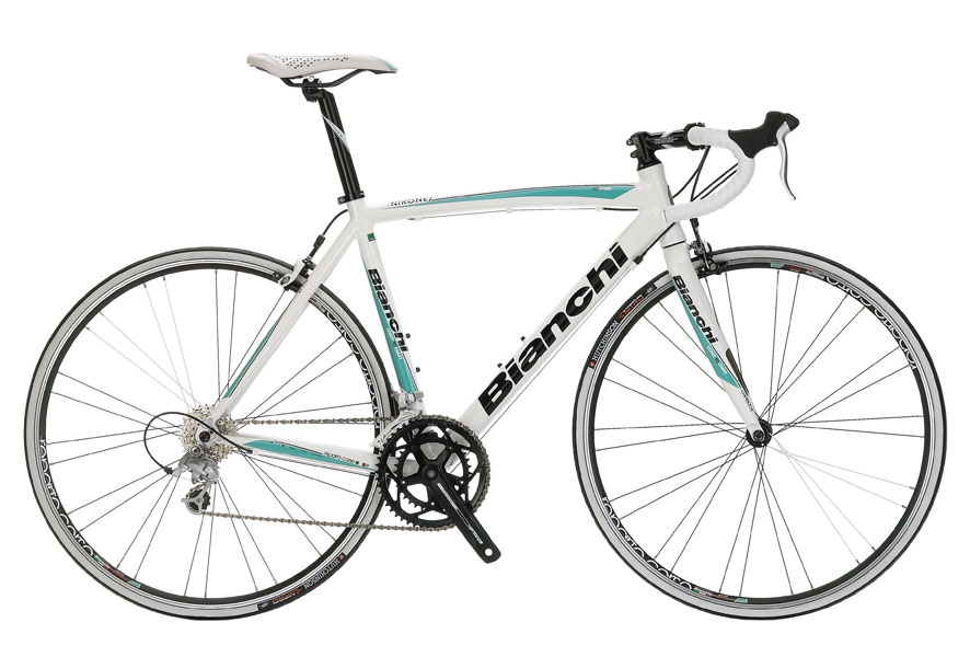 Bianchi Via Nirone Sora - Sale Price $729.99 (Regular Price $969.99)Aluminum frame, carbon fork, Shimano Sora 2 x 9 speed shifting.Available Sizes: 46cm