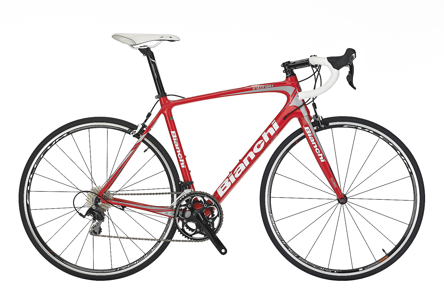 Bianchi Intenso 105 - Sale Price $1,799.99 (Regular Price $2,200.00)Carbon frame and fork, Shimano 105 2 x 10 speed shifting.Available Sizes: 57cm