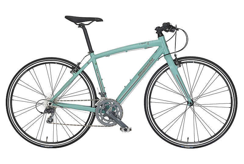 Bianchi C-Sport 4 - Sale Price $699.99 (Regular Price $849.99)Hydroformed aluminum frame, carbon fork, Shimano Claris 2 x 8 speed shifting, Bianchi V-brakes.Sizes Available: 59cm