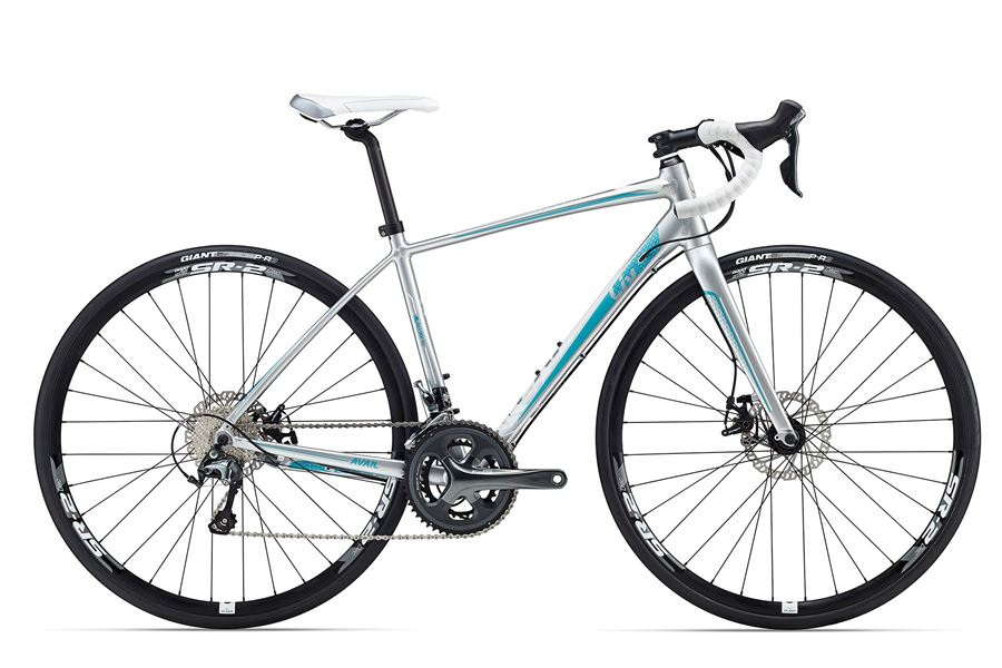 Liv Avail 2 Disc - Sale Price $1,049.99 (Regular Price $1,200.00)ALUXX-SL aluminum frame, carbon fork, Shimano Tiagra 2 x 10 speed shifting, TRP Spyre mechanical disc brakes, Giant SR-2 disc wheels.Sizes Available: Medium
