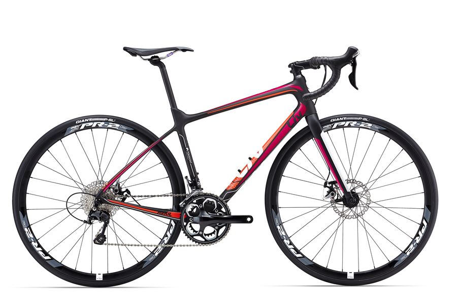 Liv Avail Advanced 2 - Sale Price $1,899.99 (Regular Price $2,100.00)Advanced grade carbon frame and fork, Shimano 105 2 x 11 speed shifting, TRP Spyre-C mechanical disc brakes, Giant PR-2 disc wheels.Sizes Available: Medium