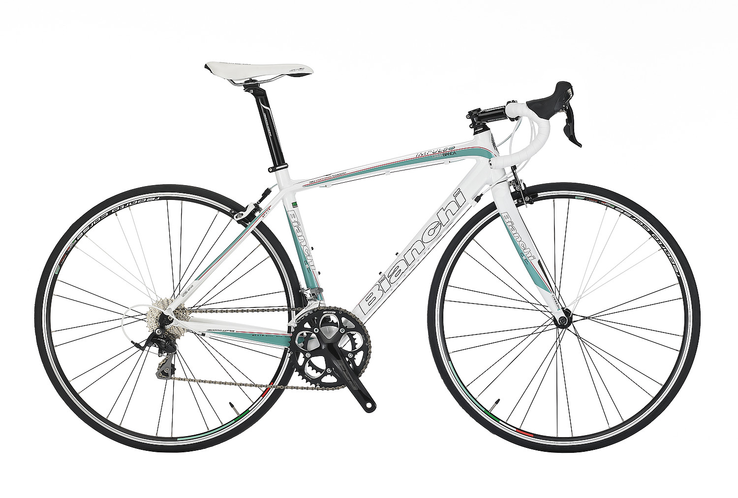 Bianchi Impulso Dama 105 - Sales Price $1,299.99 (Regular Price $1,499.99)Impulso triple-hyrdroformed aluminum frame, carbon fork, Shimano 105 2 x 10 speed shifting, Reparto Corse caliper brakes.Available Sizes: 46cm, 50cm