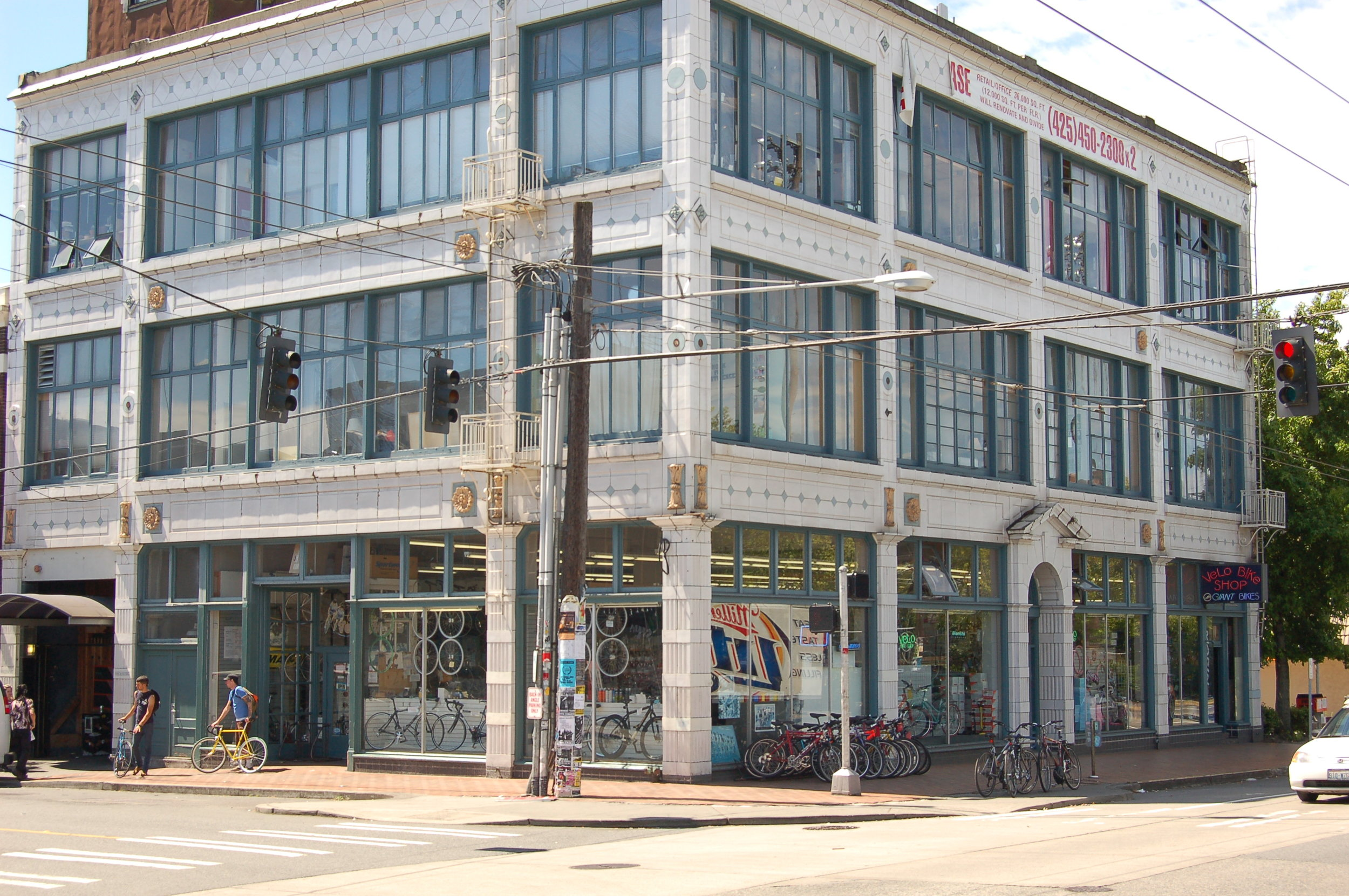 Velo Bike Shop location from 1985 - 2013 at 11th Ave. & Pine St.