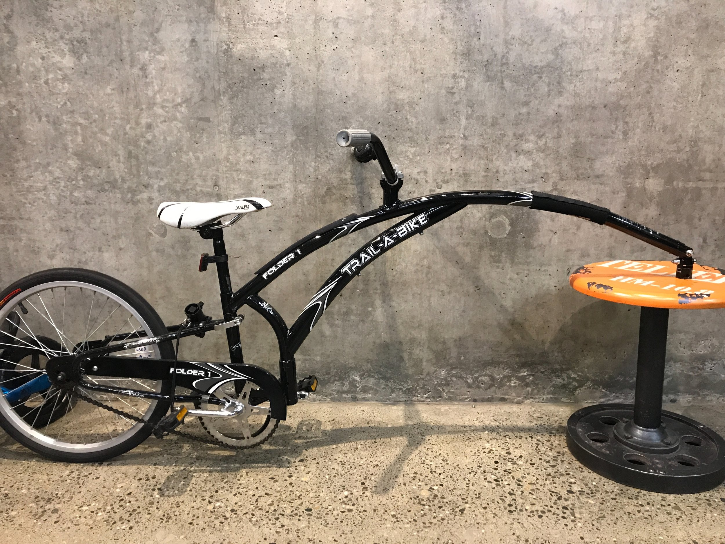 "Trail-A-Bike - 20"" wheel - $150.00"