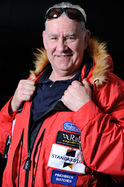 Roger Davies ready for the challenge with his Pinchbeck watch