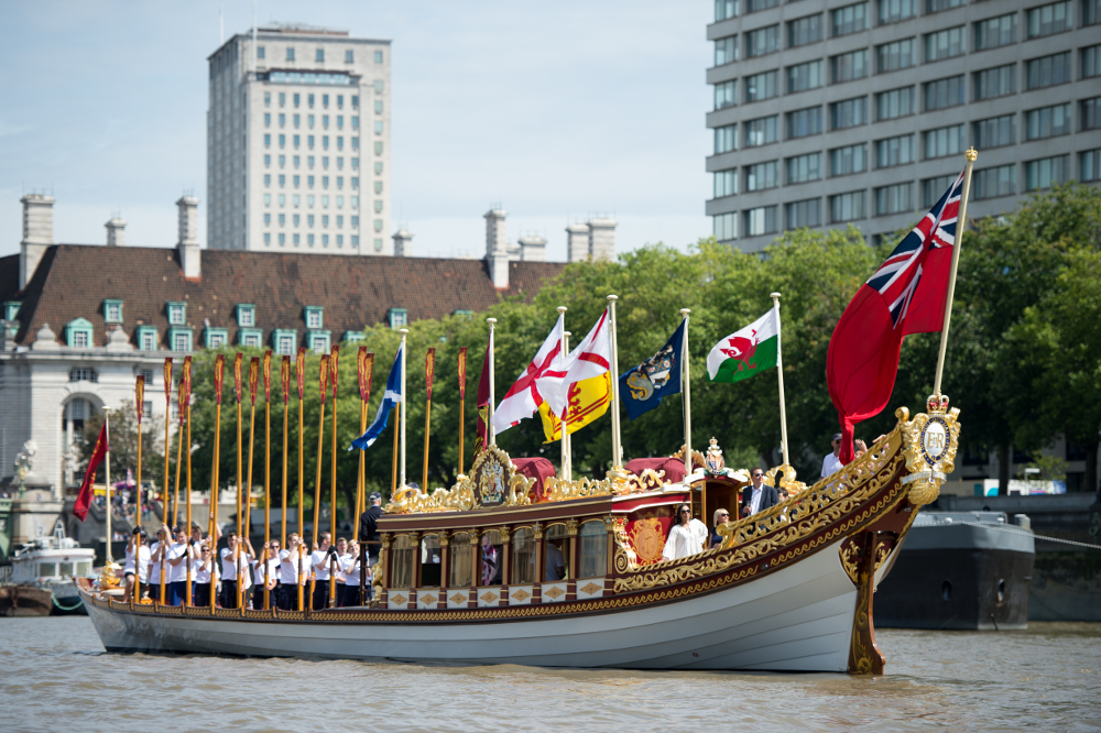 This year the race was greeted by the Royal barge Gloriana.