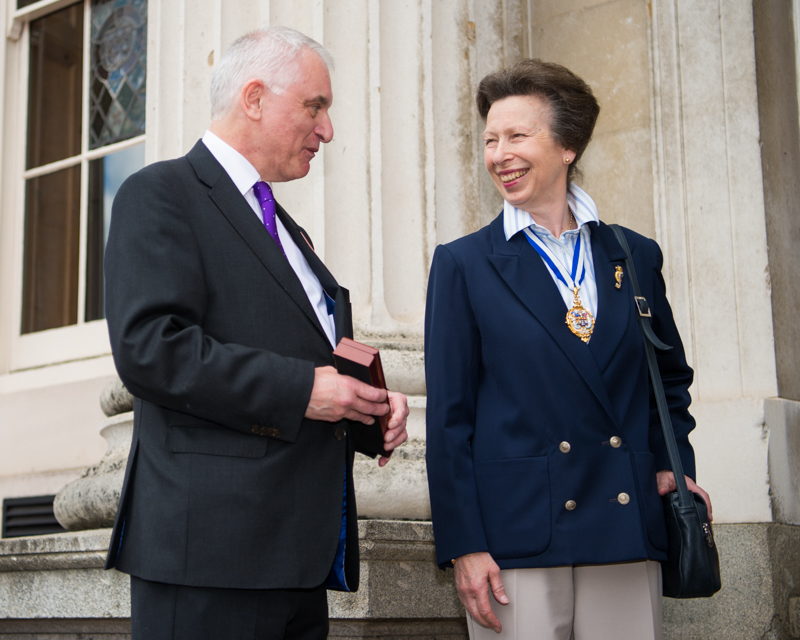 HRH The Princess Royal with Paul Pinchbeck, ready to present the winners watch.