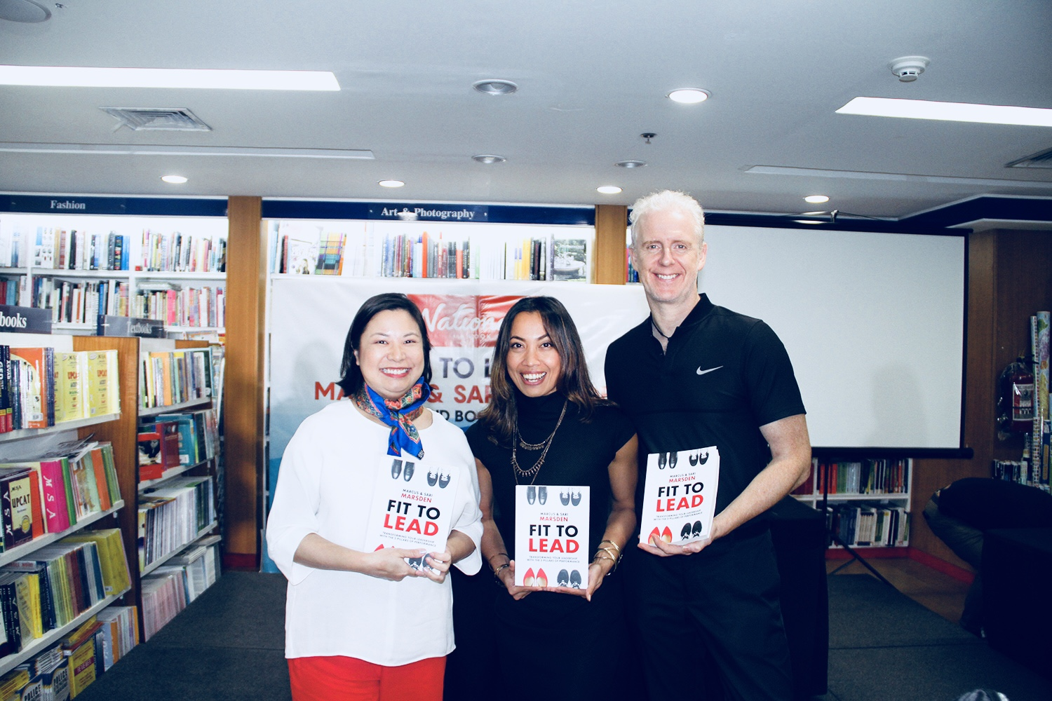 FIT TO LEAD TALK AND BOOK SIGNING IN MANILA. - MANILA, DECEMBER 2, 2017We had a wonderful time at the talk and book signing at National Book Store Shangri-la Plaza Mall, Manila just now.We appreciate the support, the enthusiasm and the questions from those who joined our conversation.Happy to announce that FIT TO LEAD is now available at National Book Store Shangri-la Plaza Mall and Power Books, Manila.Grab your copy!