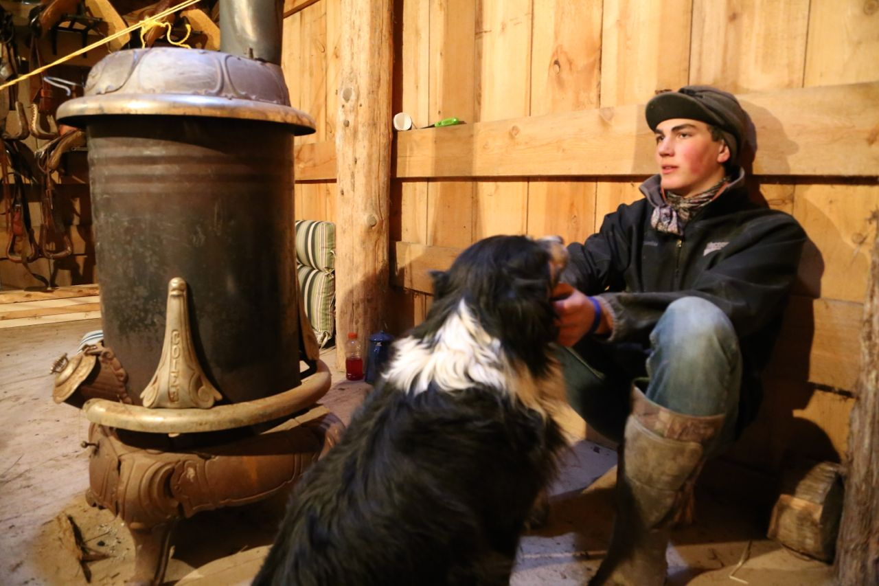 COMPANY IN THE TACK ROOM OF THE  HEREFORD HOUSE. CALEB AND BELLE.