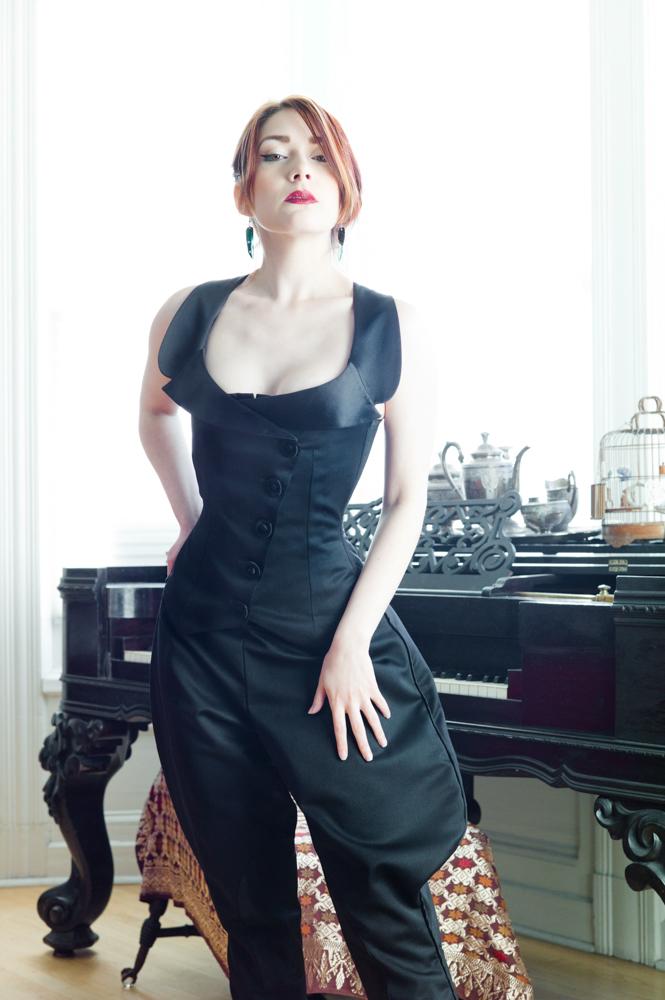 001.marianneSelects_joelaron.com Dark Garden Unique Corsetry Couture Nouveau Woman in Black Joel Aron.jpg