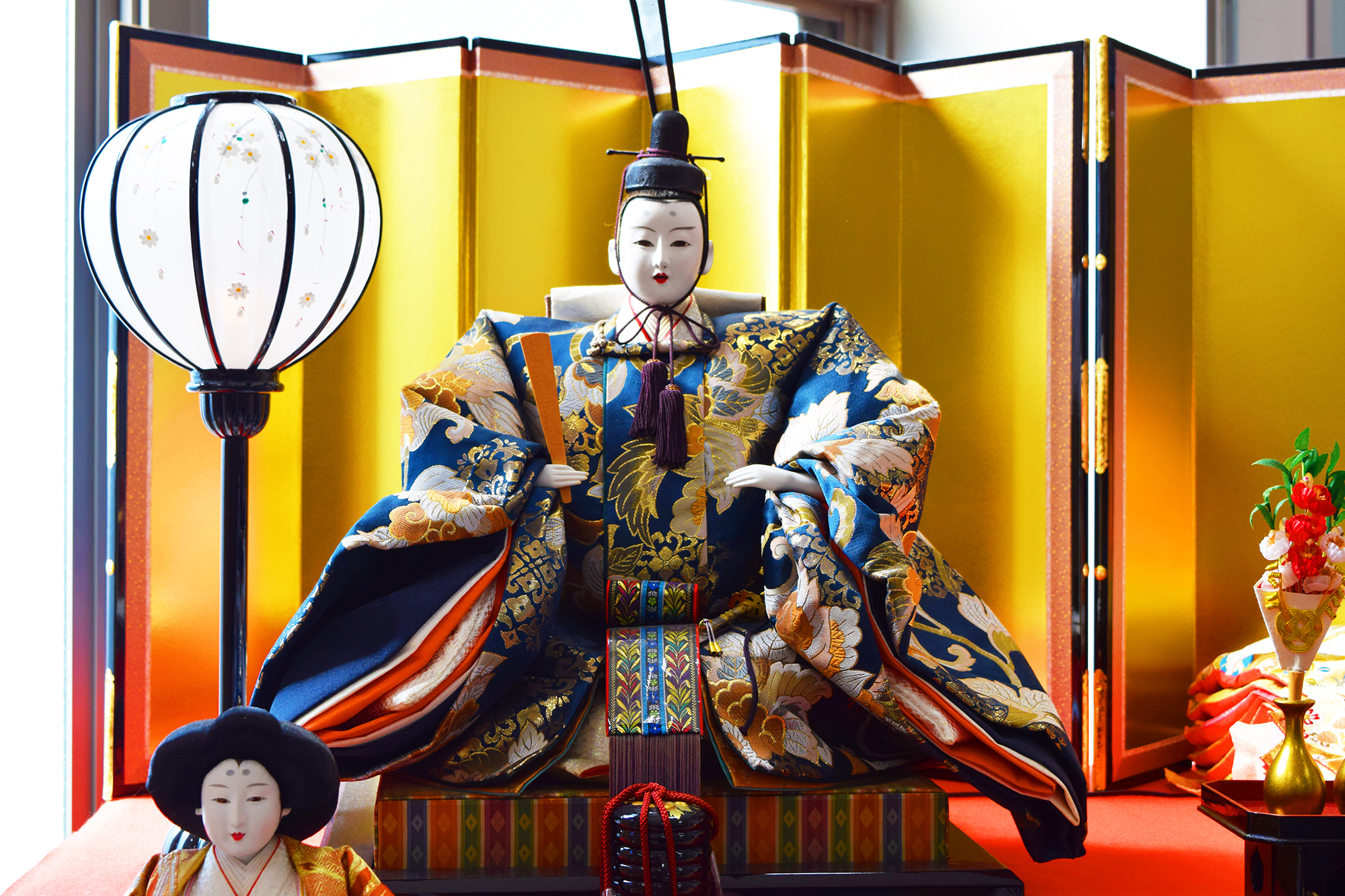 Traditional Japanese dolls.