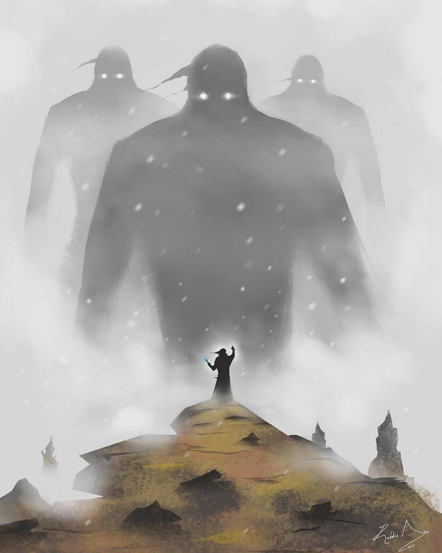 Above image; 'Isle of mystery' My fantasy digital art illustration.