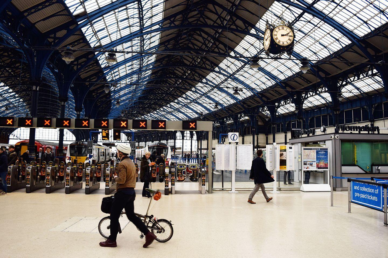 Above image;    Brighton Station.
