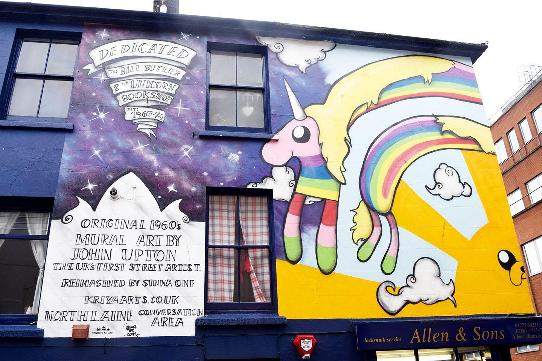 Above image;    Original U.K street artist dedication.