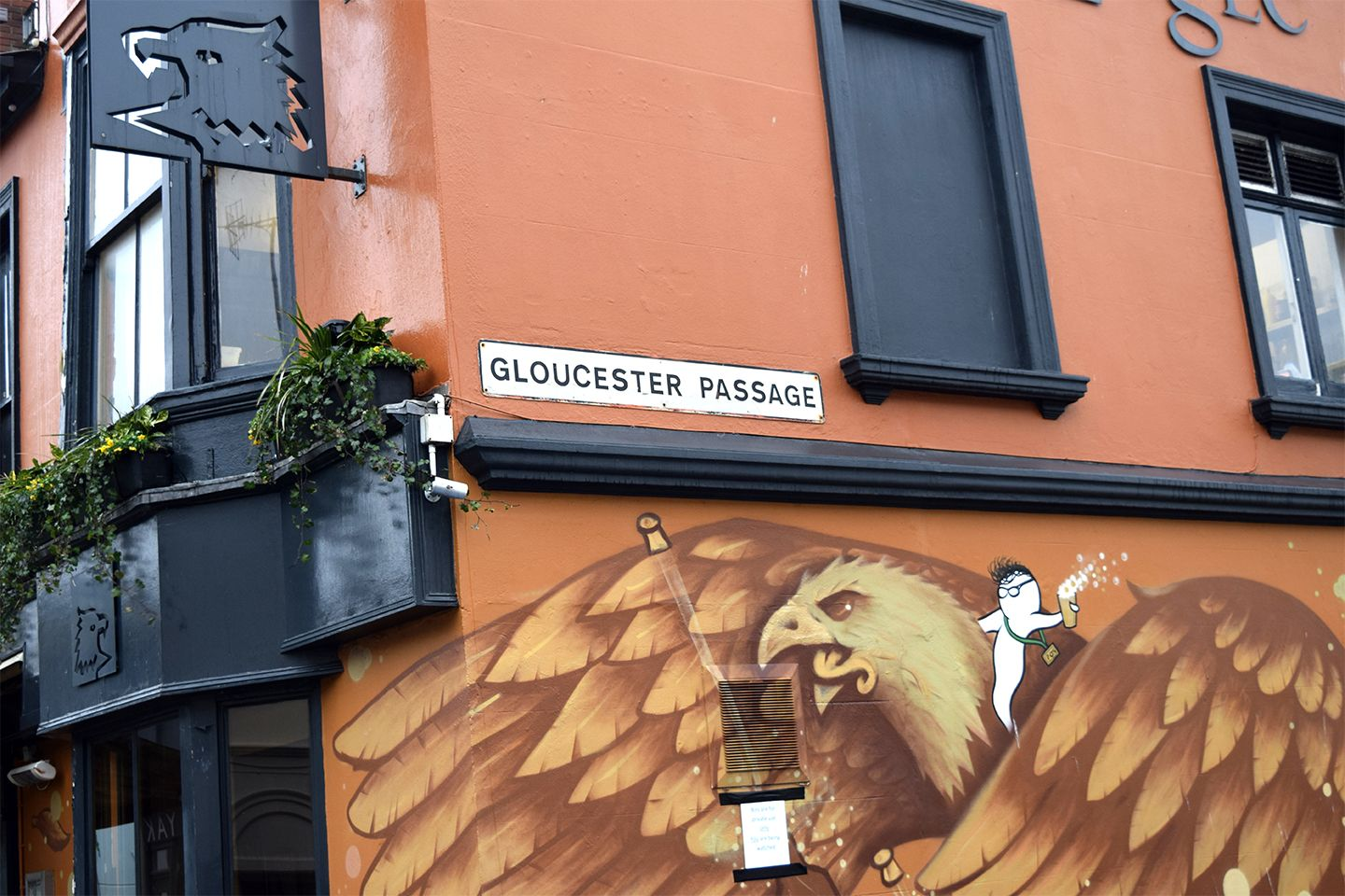 Above image;    Gloucester Passage, home of 'The Eagle' pub, one of 3 on the end of my street, Cheltenham Place.