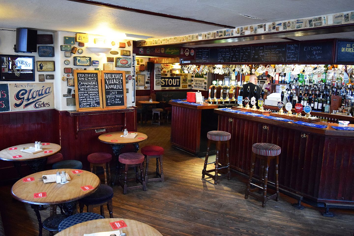 Above image;    The view of the interior as you walk through the main entrance of The Basketmakers Arms.