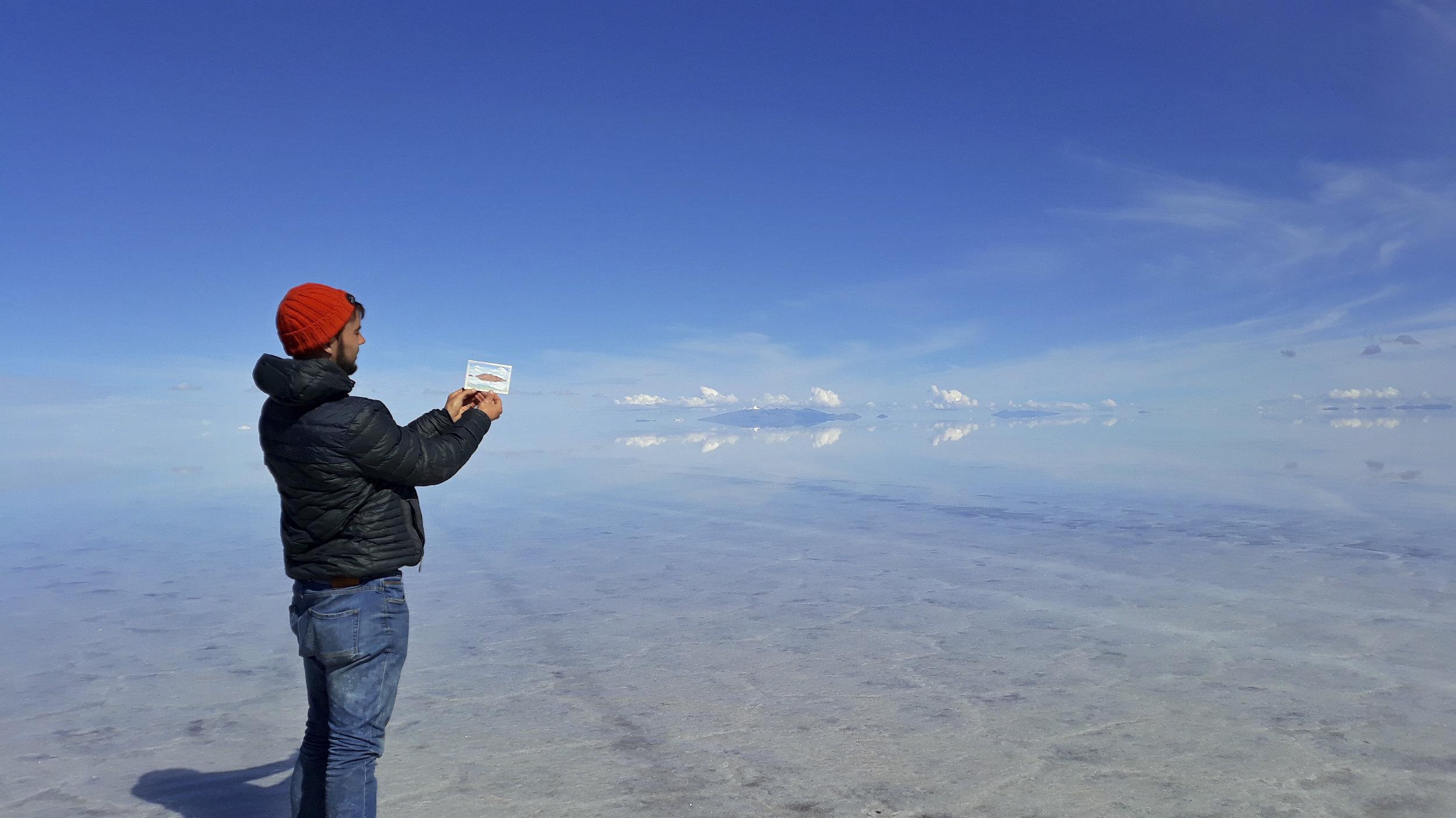 Nature S Mirror Salar De Uyuni Plein Air Painting Bolivia Robbieallenartist