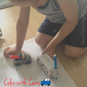 🚗Color With Cars🚙 If your child loves playing with cars, then they will love this craft! Color with cars is a great way to add a layer of learning and fun to an already cool activity.  Materials Needed: Small toy cars 🚗🚕🚙 Markers or crayons Tape Paper Find some of your child's favorite toy cars and tape a marker or crayon to the back. Lay a large piece of paper on the floor or table top. Encourage your child to draw shapes or have a fun race!  Enjoy!!!