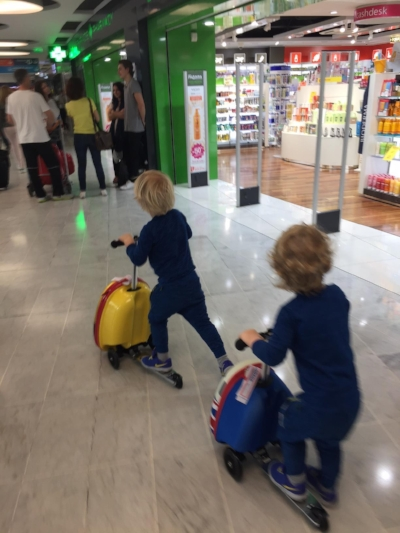 Scooting through the airport