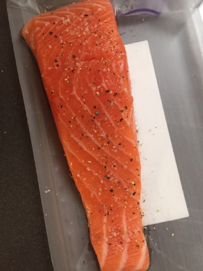 Salmon spiced & ready to fry