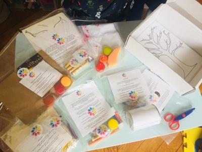 Autumn Box crafts when unpacked