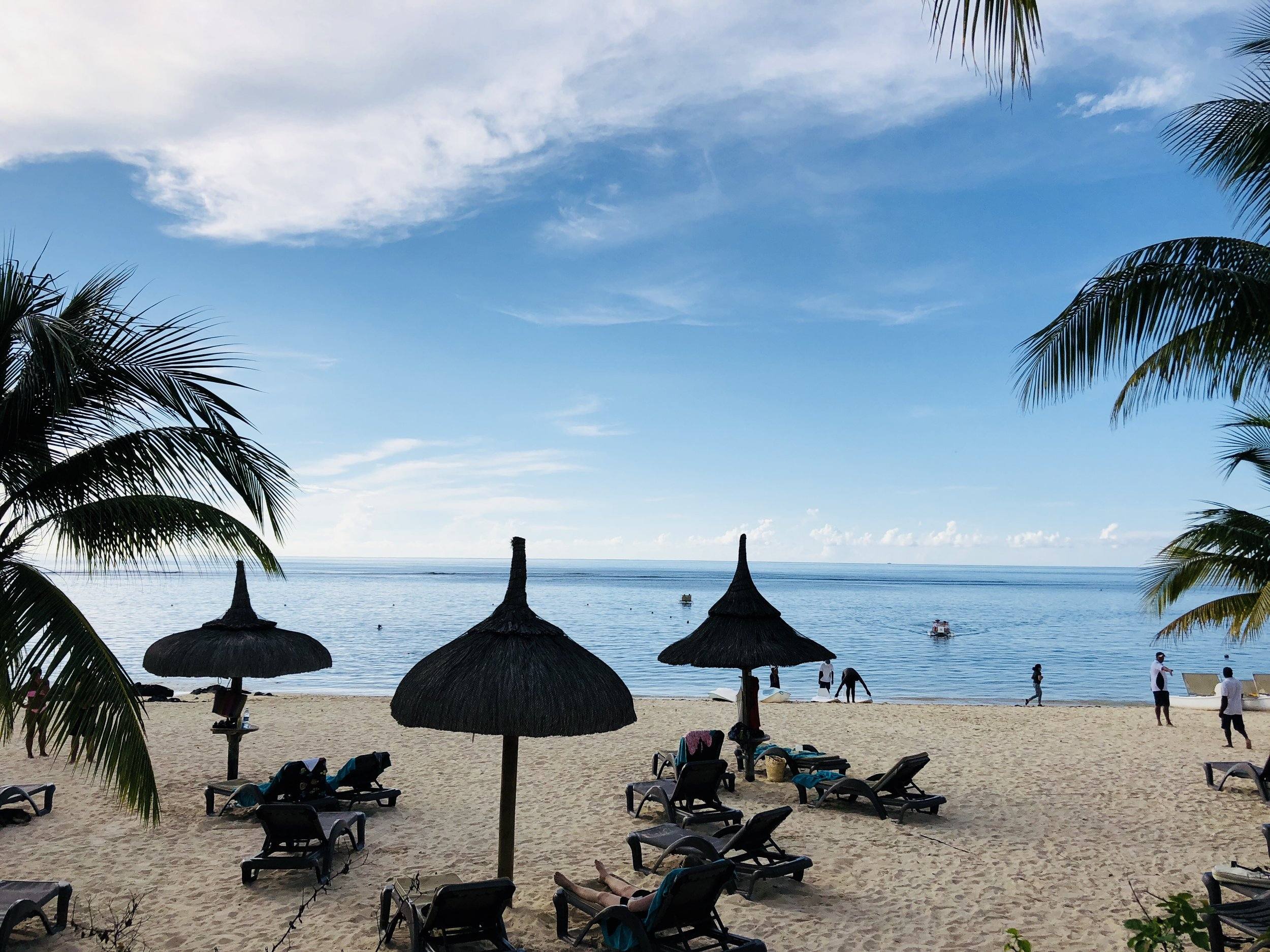 Gorgeous beach just below the main pool area - all water sporting equipment is available at a hut located just to the right in this picture
