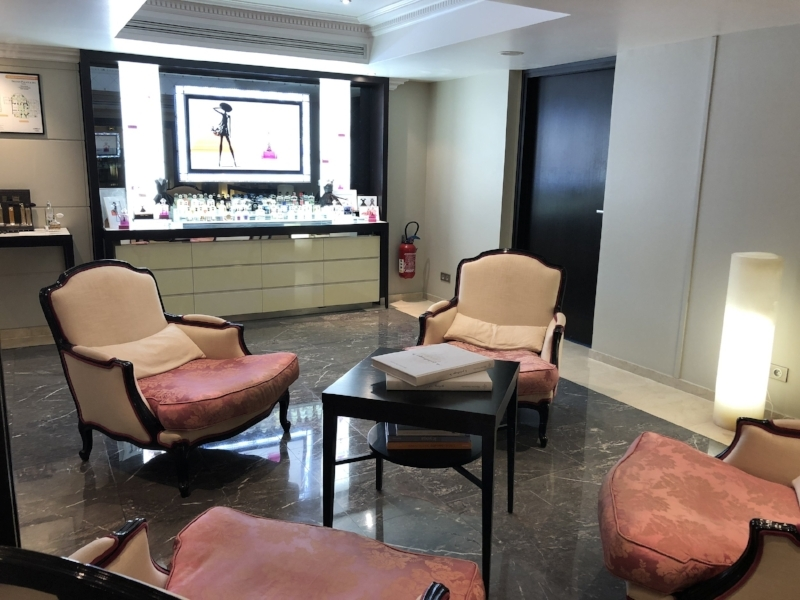 The Beautiful reception area of the Spa